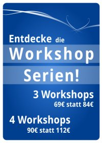 Workshop Specials und Vergünstigungen in Köln - Flyer